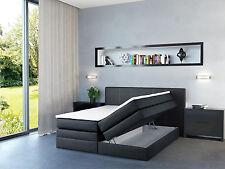 Design Boxspringbett 180x200 Bettkasten H2 Hotelbett Ehebett Doppelbett Schwarz