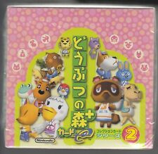 Animal Crossing + Card e Collection Card Series 2 Sealed Box Japanese