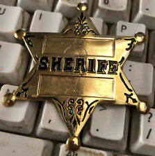 Old West Reenactment Sheriff Badge Hallmarked New