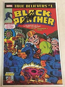 Marvel True Believers Black Panther #1 Reprint Signed by Stan Lee w/COA