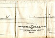 1855 U S PACIFIC RR EXP & SUR GEOLOGICAL CHART COLORADO RIVER TO PACIFIC 24X11