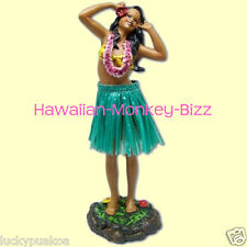 NEW! ~ LEILANI - SINGING (GREEN SKIRT) HAWAIIAN HULA DASHBOARD DOLL! ~ 7 INCH!