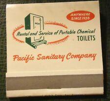 Matchbook - Pacific Sanitary Portable Toilets San Francisco CA FULL 30 Strike