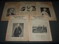 1940-1941 NEW YORK TIMES BOOK REVIEW NEWSPAPER LOT OF 5 - H 1265