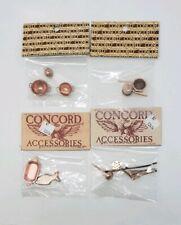 NOS Concord Dollhouse Miniature Lot of (4) - Copper- Toned Kitchen Stuff