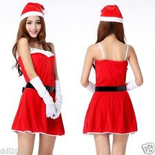 NEW Women Santa Christmas Costume Fancy Dress Xmas Office Cosplay Party Outfit