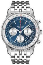 New Breitling Navitimer 1 B01 Chronograph 46 Blue Dial Men's Watch AB0127211C1A1