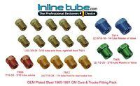 Standard SAE Inverted Flare Brake Line Fittings Nuts Assortment 3/16 1/4 Kit Set