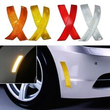 2Pcs Car Vehicle Bumper Reflective Warning Strip Decal Stickers Auto Accessory