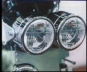 CHROM Doppel - Scheinwerfer SUZUKI GSF 600 650 1200 Bandit Neuware Ovp m.TÜV