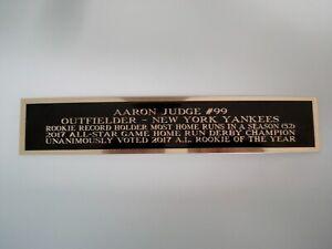 Aaron Judge New York Yankees Baseball Jersey Display Case Nameplate 1.5 X 8
