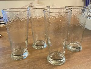 Southern Living at Home Southern Sippers 22oz Hammered Glasses SET OF 4