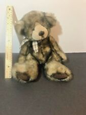 Cappuccino / Russ Plush Teddy Bear Brown & Tan with Matching Bow