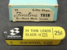 Vintage Sheaffer 24 Mechanical Pencil Thin Leads Black H Med Hard Tin