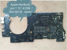 820-00138 Faulty Logic Board For Apple MacBook pro 15'' A1398 repair