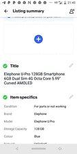 "Elephone U-Pro 128GB Smartphone 6GB Dual Sim 4G Octa Core 5.99"" Curved AMOLED"