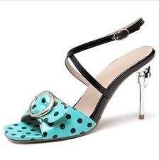 New Fashion Buckle Strap Stilettos High Heel Rhinestone Polka Dot Women Sandals