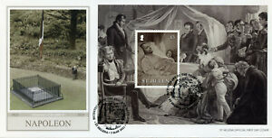 St Helena People Stamps 2021 FDC Death of Napoleon Bonaparte Exile 1v M/S