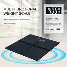 Smart Body Fitness Temperature LCD Digital Weight Electronic Scales 180KG