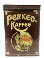 Rare Vintage Perkeo Kaffee Coffee Litho Tin A.Braun Heidelburg Advertising