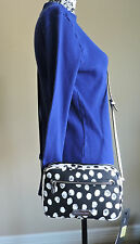 MARC BY MARC JACOBS SALLY DEELITE DOT LECHE WHITE BLACK CROSSBODY BAG SMALL NWT