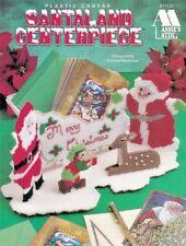 🎄 Santaland Centerpiece Plastic Canvas Elf Deer Mrs Claus Card Holder Oop 🎄