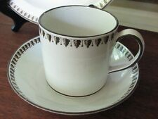 Wedgwood Rare 18th Century Trio Plate & Cup & Saucer Brown Leaves Museum Item