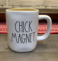 Rae Dunn By Magenta - LL CHICK MAGNET WHITE W YELLOW Interior Coffee Mug Easter