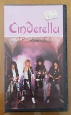 CINDERELLA - NIGHT SONGS THE VIDEOS -1987-MUSIC VHS VIDEO -EXCELLENT CONDITION