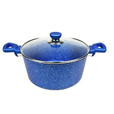 Non-Stick Casserole, Blue Stone Coated✪Induction✪Cookware✪Pots✪Kitchen
