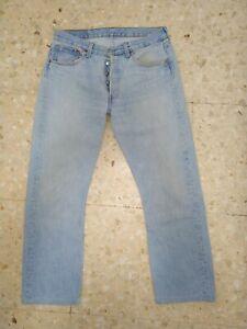 Levis 501 jeans W32 L30 vintage piedra 100% preciosos (42 eur) USA FC27