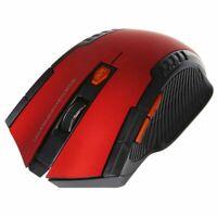 Souris de Jeu Optique Sans Fil Portable 2400DPI 2,4 GHz pour Ordinateur Por E6I2