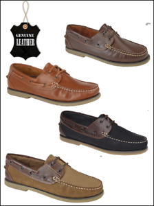 MENS/LADIES/BOYS LEATHER DECK SHOE NEW SUMMER HOLIDAY SMART BOAT NON MARKING