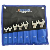 """Stubby Spanners Wrench Set SAE Imperial 7pc 3/8"""" - 3/4"""" By Bergen AT134"""