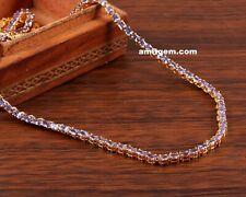 Tanzanita 14K Oro Amarillo Chapado Sobre 925 Plata de Ley Tenis Collar n-02