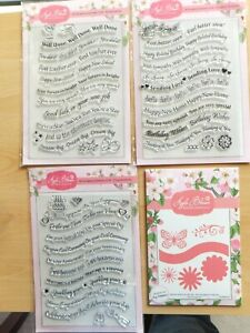 Crafters ''Apple Blossom''  3 Sets of  Stamps plus Dies. Banner & Blooms