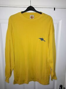 Toffs 100% Cotton Vintage Style Long Sleeve Arsenal Away Jersey Size XXL