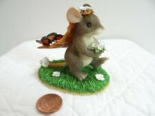 Charming Tails Here Comes The Bride Mouse Figurine Butterflies Leaf Veil 82/100