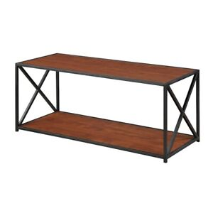 Convenience Concepts Tucson Coffee Table, Black/Cherry - 161842