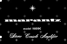 MARANTZ 1152DC Schematic Diagram Service Manual Repair Schaltplan Schematique