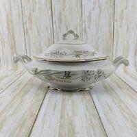 VTG Vogue Fine China Amaryllis Oval Covered Casserole Serving Dish w/ Handles