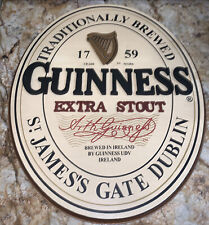 """Guinness Beer Sign 18"""" Wooden Official Merchandise Extra Stout Ireland"""