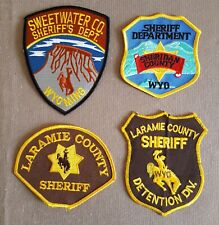USA - 4 x Different Sheriff Patches - Wyoming #2