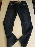 Gap Womens Boy Cut Jeans Size 6 Regular  Medium Wash Distressed Measures 31 x 32