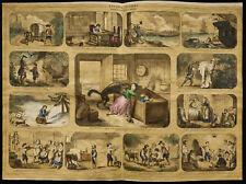 Rare 1853ca - Les enfants célèbres  - Planche encyclopédique, scolaire, affiche