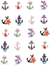 Floral Anchors Waterslide Nail Decals/Nail Art