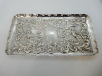 EDWARDIAN Solid SILVER Dressing Table TRAY, Chester 1902. 185g