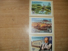 3 X GUERSNEY MINT PHQ POSTCARDS
