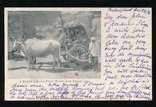 India ethnic Bullock Gari Pardah Open Zenana Missionary PPC used 1904
