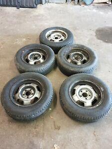 Set Of 5x Volvo 240 (244/245) Steel Wheels